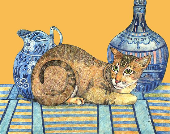 Puss in Blue by Anita Inverarity