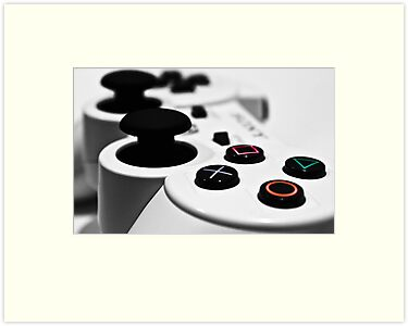 White Playstation Controller by Cory Bulatovich