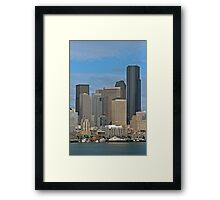Seattle-Capital of Washington State, U.S.A. Framed Print