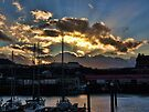 Scarborough Harbour. by Colin Metcalf