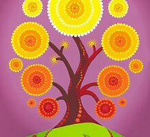 Orb tree of fruition by Elspeth McLean