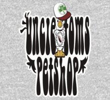 uncle toms petshop, tshirt duck cap  by ian rogers by scottishtshirts