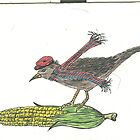 hungry fairy tale bird by dodiesdesigns