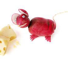 Radish Mice by Vanessa Dualib