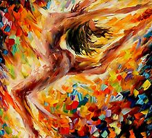 The Dance Of Love - original oil painting on canvas by Leonid Afremov by Leonid  Afremov