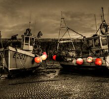 Fishing Boats at Lyme Regis by Rob Hawkins