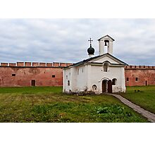 The Church of St Andrew Stratelates in Veliky Novgorod, Russia Photographic Print