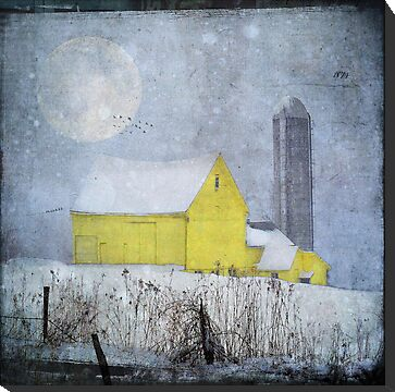 Old Yellow Barn by dawne polis