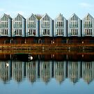 Perfect line of houses, Chichester, UK by jrlees1