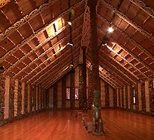 Waitangi Marae (Meeting place) by Roy  Massicks