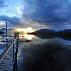 Lake Te Anau at sunset. South Island, New Zealand. by Ralph de Zilva