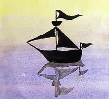 Lonely Boat by Kate Trewin