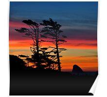 WIND SWEPT SUNSET Poster