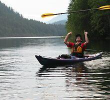 Kayak paddle twirling champion by wildwoosi