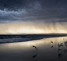 Approaching Storm  - Redhead Beach by Andrew Styan