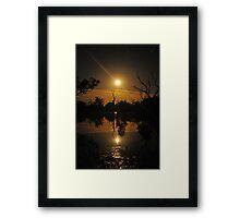 Moonrise reflections Framed Print