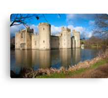 Bodium Castle: East Sussex, UK. Canvas Print