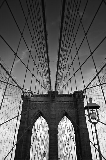 Brooklyn Bridge B&W by thomasrichter