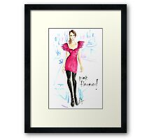 Pink Flamenco! Framed Print