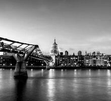 London Skyline St. Pauls At Night by Robert Schulz