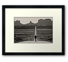 Self Portrait, Monument Valley, Utah Framed Print