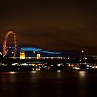 London Waterloo Bridge at Night by Robert Schulz