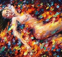 MI AMOR - NUDE - original oil painting on canvas by Leonid Afremov by Leonid  Afremov