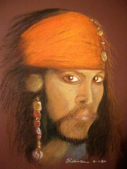 Captain Jack Sparrow by Hilary Robinson