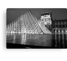 The Louvre at Night, Paris, France Canvas Print