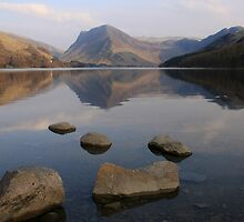 Foreground Rocks Buttermere by Linda Lyon