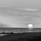 sunset on the ocean by Wilson Johnson
