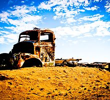 Old Rusted Semi - Outback South Australia by Rob McDougall