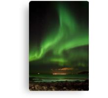 Northern lights - aurora borealis - Iceland Canvas Print