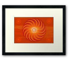 Sacral Chakra ~ Orange ~ Svadisthana ~ Male Framed Print
