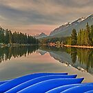 Blue Canoes by Mark  Allen