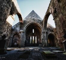 Quin Abbey, County Clare, Ireland by John-Robert Bridges