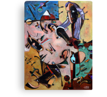 Homage to Miro Canvas Print