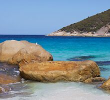 Little Beach Rocks by Robert Stephens