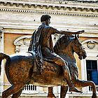 Statue of Marcus Aurelius, Rome, Italy by buttonpresser