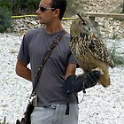 Eurasian Eagle Owl and Friend by WILT