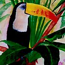 Toucan Bird Wildlife South American Jungle Acrylic Painting by Rick Short