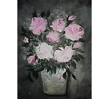 ROSES IN A BUCKET Photographic Print