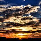Sunset Sky - Newcastle NSW Australia by Bev Woodman