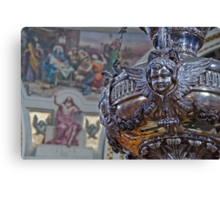 Mosta Church: Silver Votive Lamp Canvas Print