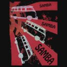 VW SAMBA SAMBA SAMBA Kombi Shirt - Red by melodyart