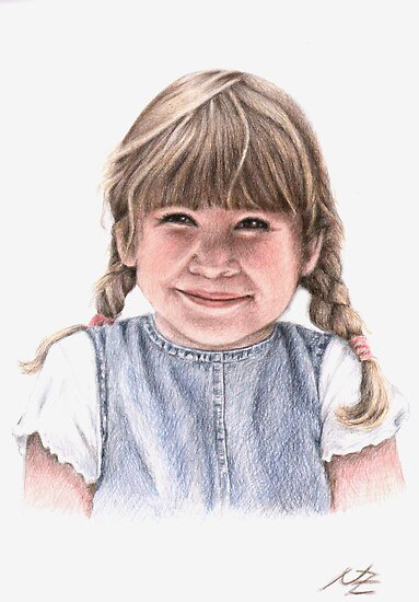 Sweet Little Girl Portrait by Nicole Zeug