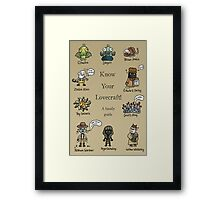 Know Your Lovecraft! Framed Print