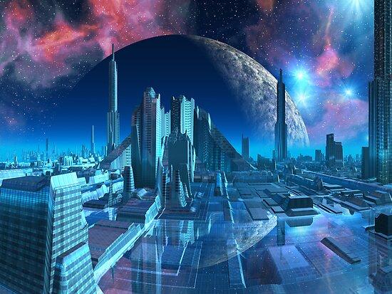 Aquarius City Marina by SpinningAngel