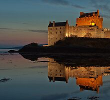 Eilean Donan By Night, close up by Stuart Blance