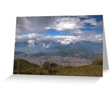 Quito - View from Cruz Loma Greeting Card